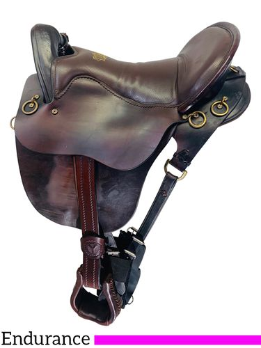 SOLD 2019/10/09  PRICE REDUCED AGAIN!! 16.5Inch Used Tucker River Plantation Endurance Saddle 146 *Free Shipping*