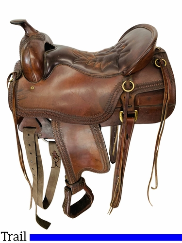 SOLD 2021/07/02 16.5Inch Used Tucker Trail Saddle 167 *Free Shipping*