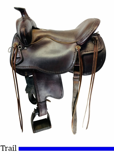SOLD 2021/04/13 16.5Inch Used Tucker Trail Saddle 251 *Free Shipping*
