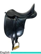 SOLD 2019/11/13  16.5Inch Used Bates Isabell Werth English Saddle WISACXXXXX *Free Shipping*