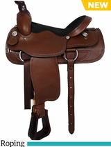 "DISCONTINUED 16"" American Saddlery Lexie Collection Barbwire Roper Saddle 605"