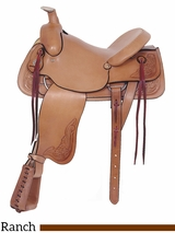 "** SALE **16"" American Saddlery Rancher's All Around Saddle 748"