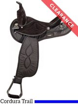 """16"""" Big Horn Black Synthetic Saddle 603, CLEARANCE"""
