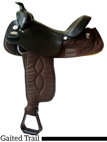 "16"" Big Horn Brown Cordura Gaited Horse Saddle High Withers 257"