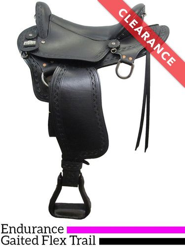 "SOLD 2020/02/25  16"" Big Horn Endurance Gaited Flex Saddle 1687, CLEARANCE"