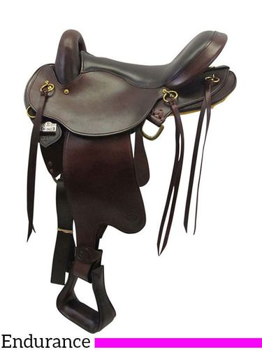 "16"" Big Horn QHB Gaited Endurance Saddle 830"