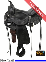 """15.5 """" Circle Y Julie Goodnight Wind River Wide Flex2 Trail Saddle 1750 CLEARANCE"""