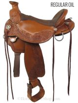 "16"" Circle Y Walnut Grove Flex2 Saddle 1157 - Floor Model Wide Tree"