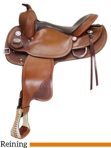 """** SALE **15"""" to 17"""" Crates Classic Reining Saddle 2221"""