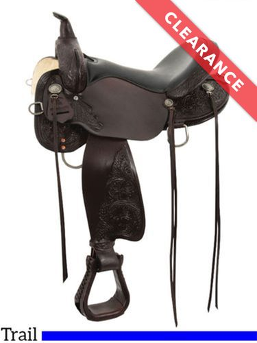 """SOLD 2020/10/21 15"""" High Horse Mesquite Trail Saddle 6864, CLEARANCE"""