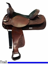 SOLD 2019/05/20  16 Inch Used Circle Y Original Park and Trail Saddle 3607 *Free Shipping*