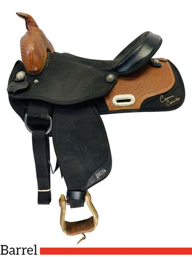 SOLD 2019/12/07  16 Inch Used Abetta Connie Combs Cordura Barrel Racer 20525-6 *Free Shipping*