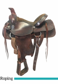 16 Inch Used American Saddlery American All Around Roping Saddle 750 *Free Shipping*