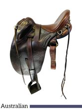 16 Inch Used Australian Superdrafter Saddle 65 764 *Free Shipping*