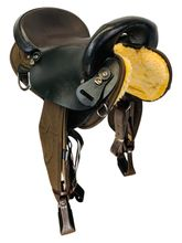 16 Inch Used Big Horn Center Fire Endurance Saddle 118 *Free Shipping*
