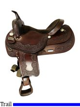 SOLD 2021/10/12  16 Inch Used Big Horn Draft Cross Horse Saddle 1680 *Free Shipping*