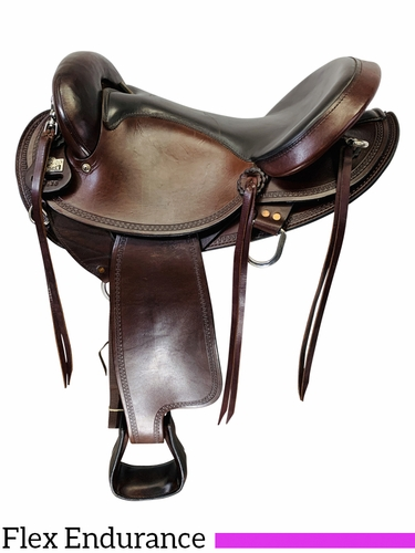 SOLD 2019/11/15  16 Inch Used Big Horn Flex Tree Endurance Saddle 804 *Free Shipping*