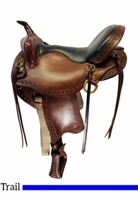 16 Inch Used Big Horn Voyager Trail Saddle 1638 *Free Shipping*