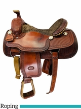 16 Inch Used Billy Cook Arena Roper Saddle 2555 *Free Shipping*