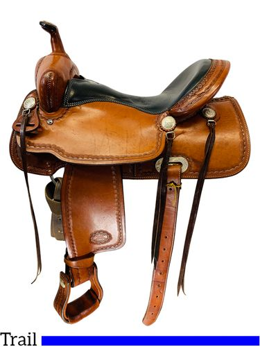SOLD 20/10/21 16 Inch Used Billy Cook CJ Trail Saddle 1537 *Free Shipping*