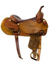 SOLD 2020/09/17  16 Inch Used Billy Cook Classic Cutting Saddle 8942 *Free Shipping*