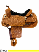 16 Inch Used Billy Cook Pleasure Show Saddle 8990 *Free Shipping*