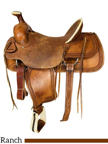 16 Inch Used Billy Cook Ranch Saddle 2184 *Free Shipping*