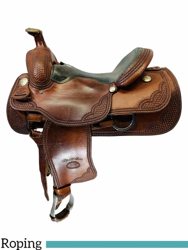 16 Inch Used Billy Cook Roping Saddle 2169 *Free Shipping*