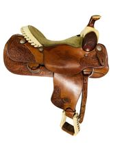 SOLD 2021/10/14  16 Inch Used Billy Cook Roping Saddle 9109 *Free Shipping*