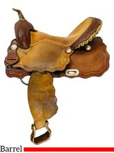 SOLD 2021/03/25  16 Inch Used Billy Cook Saddlery Barrel Saddle 7321 *Free Shipping*