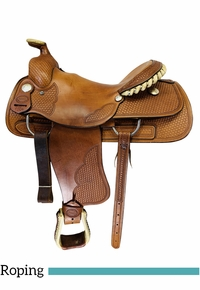16 Inch Used Billy Cook Saddlery Roping Saddle 7504 *Free Shipping*