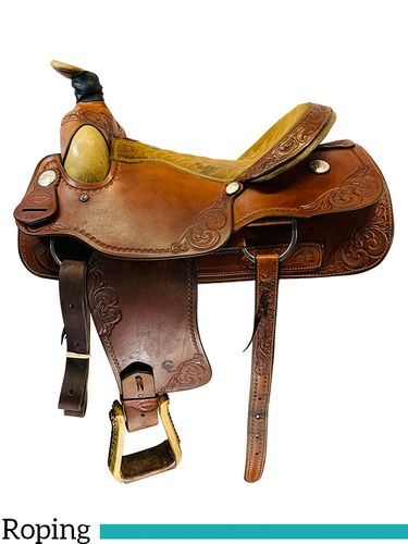 16 Inch Used Billy Cook Saddlery Roping Saddle 8309 *Free Shipping*