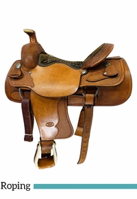 16 Inch Used Billy Cook Team Roper Saddle 2082 *Free Shipping*