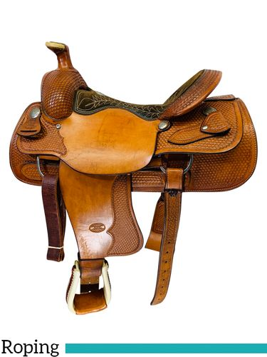 SOLD 2019/11/18  16 Inch Used Billy Cook Team Roper Saddle 2082 *Free Shipping*