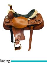 16 Inch Used Billy Cook Team Roper Saddle 4011 usbi4505 *Free Shipping*