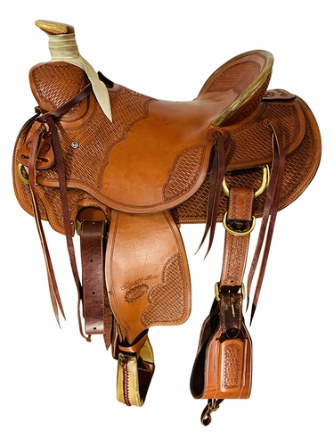 16 Inch Used Billy Cook Wade Tree Saddle 2581 *Free Shipping*