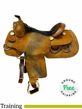 PRICE REDUCED! 16 Inch Used Billy Cook Wide Training Saddle 9030 *Free Shipping*