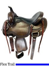 PRICE REDUCED! 16 Inch Used Cactus Wide Flex Trail Saddle 546572 *Free Shipping*
