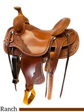 16 Inch Used Circle G Brand Garroutte Ranch Saddle 20151030 *Free Shipping*