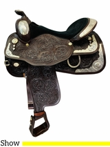 PRICE REDUCED! 16 Inch Used Circle Y Arabian Equitation Show Saddle 2298 *Free Shipping*