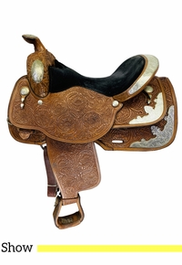 16 Inch Used Circle Y Equitation Show Saddle 2807 *Free Shipping*