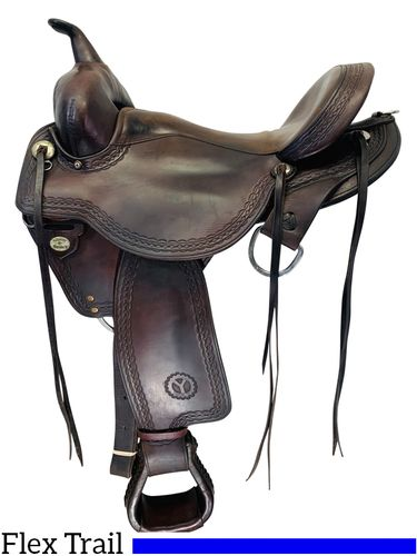 SOLD 2019/12/05  16 Inch Used Circle Y Flex Lite Flagstaff Trail Saddle 1571 *Free Shipping*