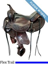 PRICE REDUCED! Used Circle Y Julie Goodnight Wind River Flex2 Trail Saddle 1750 *Free Shipping*