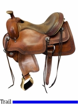 16 Inch Used Circle Y Powder River Competitive Trail Saddle 2600 *Free Shipping*