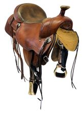 SOLD 2020/06/28  PRICE REDUCED! 16 Inch Used Circle Y Powder River Competitive Trail Saddle 2600 *Free Shipping*