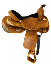 SOLD 2020/09/18  16 Inch Used Circle Y Show Saddle 2864 *Free Shipping*