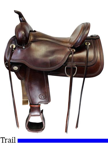 SOLD 2019/12/03  16 Inch Used Circle Y Topeka Flex2 Trail Saddle 1651 *Free Shipping*