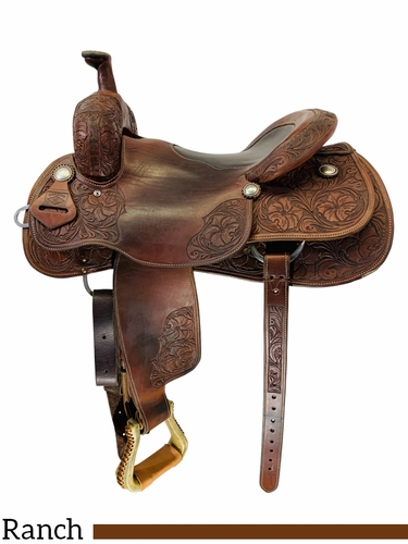 16 Inch Used Clint Herring Ranch Cutting Saddle Custom *Free Shipping*