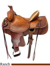 SOLD 2019/12/2  16 Inch Used Crates Association Ranch Saddle 4253 *Free Shipping*