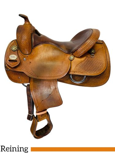 SOLD 2019/09/23  16 Inch Used Crates Classic Reining Saddle 2221 *Free Shipping*